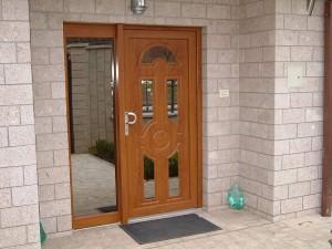 PVC ulazna vrata smeđa