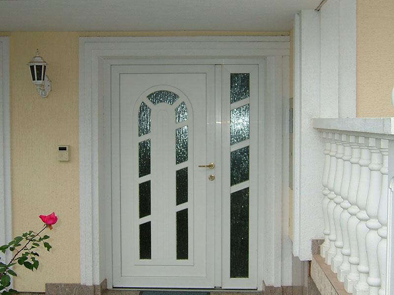 PVC ulazna vrata bijela